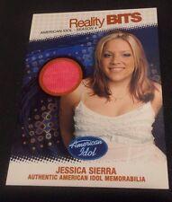 JESSICA SIERRA 2005 American Idol Season 4 WORN MEMORABILIA Reality Bits #RBJS