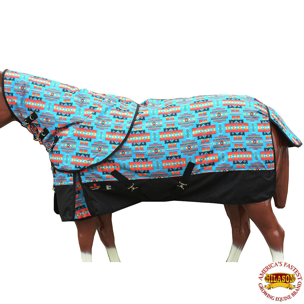78  Hilason 1200D Waterproof Turnout Horse Blanket Neck Cover Turquoise U-G-78