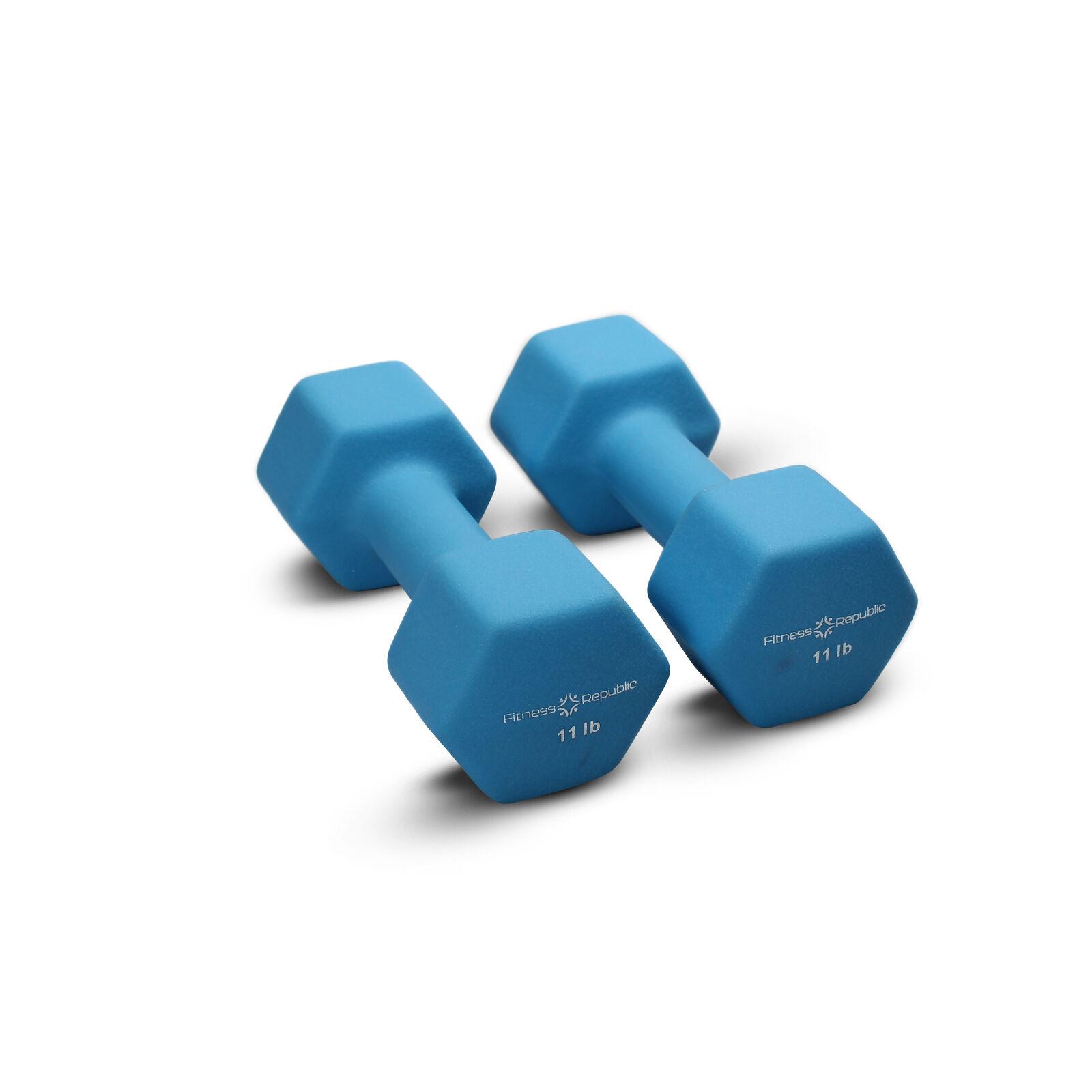 Fitness Dumbbells Republic Neoprene Dumbbells Fitness 11 lbs Set (Neoprene Weights) a25a78