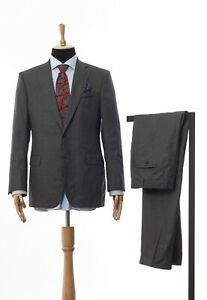 Mens-THE-SOCIETY-SHOP-ing-LORO-PIANA-Suit-Wool-Silk-Blazer-Trousers-Grey-Size