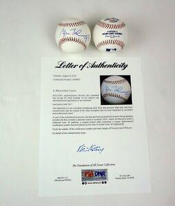 "President George W Bush Signed Autograph MLB Baseball ""43"" Inscript PSA/DNA COA"