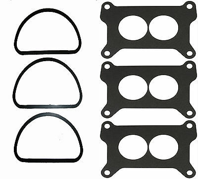 MOPAR 3X2 340 440 6 PACK TRI POWER AIR CLEANER CARB BASE GASKET HOLLEY G46-M