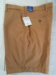 George-Men-039-s-Casual-Shorts-Flat-Front-Size-36-Brown-9-034-Inseam-NWT