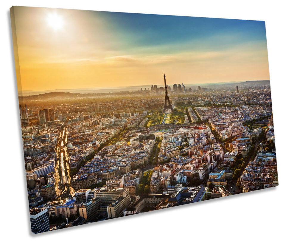 Eiffel Wall Tower Sunset Paris City Single Canvas Wall Eiffel Art