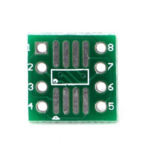 50xSMD Adapterplatine SOIC MSOP SOP SO SSOP TSSOP 8 Kontakte 127mm und 065m D2L7