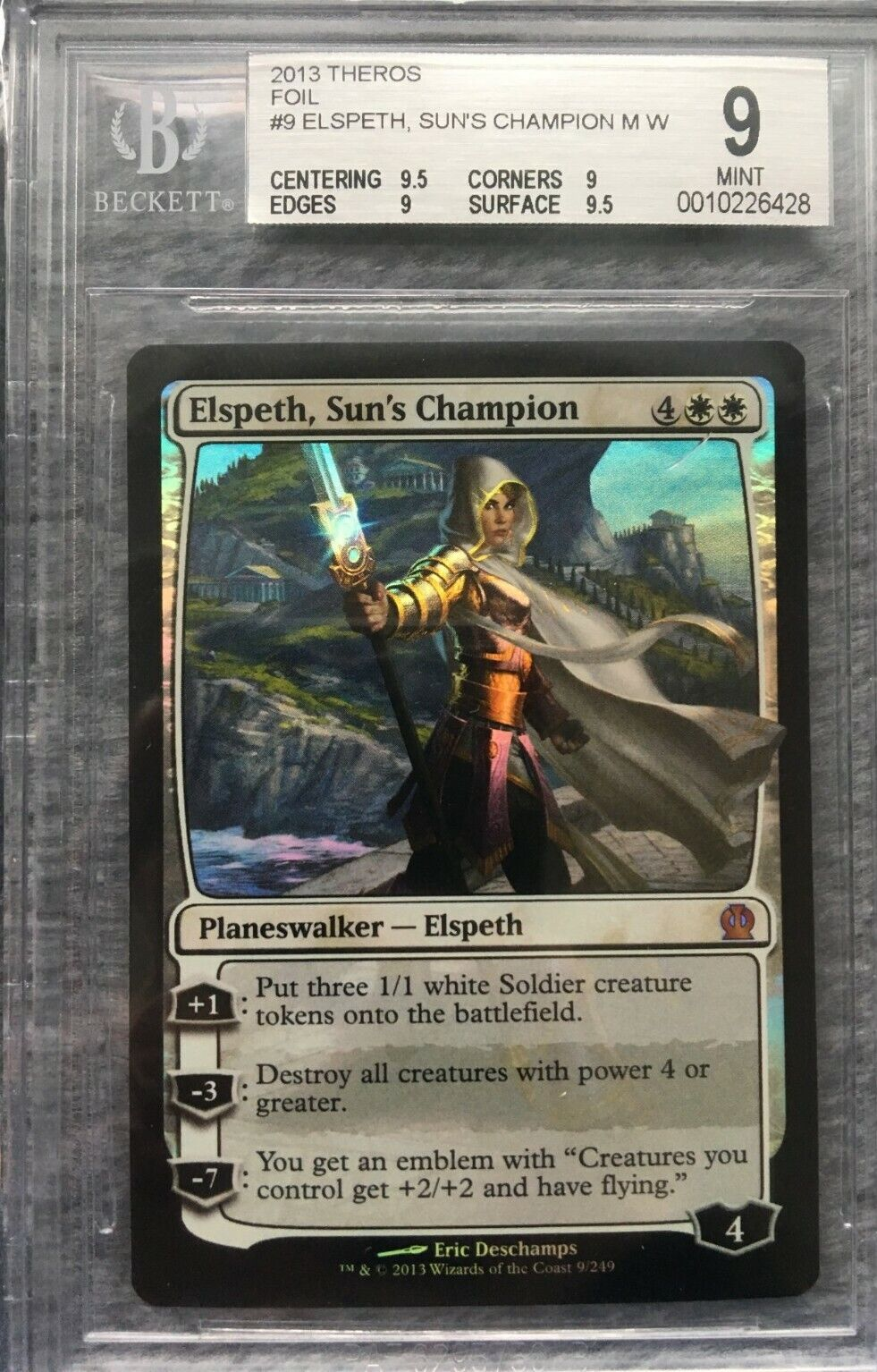 Elspeth, Sun's Champion - MTG - Theros - 2013 - Foil - BGS 9 Mint