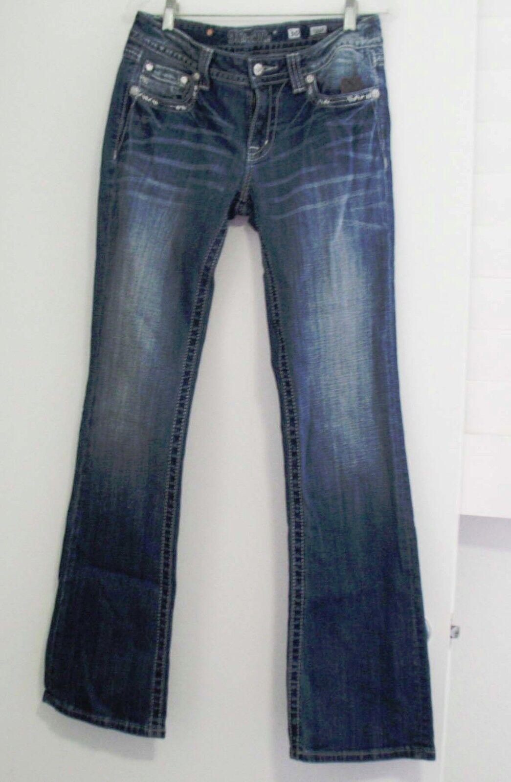 Miss Me Womens Fleur de Lis Bootcut Jeans JP7021B2 Sz 27 - NWT