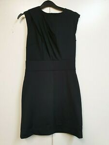 A121-WOMENS-ARMANI-EXCHANGE-BLACK-BODYCON-EVENING-FORMAL-DRESS-US-4-UK-8