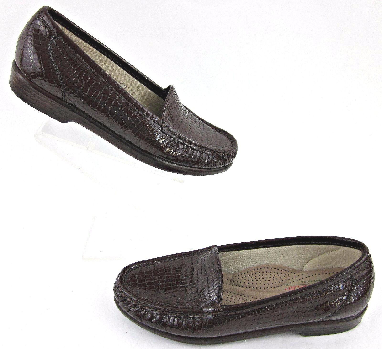 SAS 'Simplify' 'Simplify' Loafers SAS Moccasin Loafers 'Simplify' marrone Croc Pelle Sz   d223eb