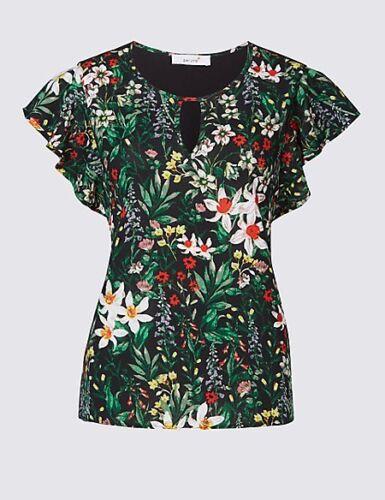 Per Una Floral Print Woven Front Top 10//12//16//18 RRP £25