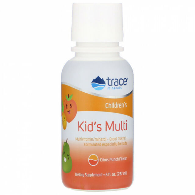 Trace Minerals Research, Kid's Multi, Citrus Punch Flavor, 8 Fl Oz (237 Ml)