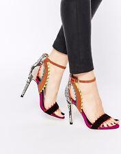Kurt Geiger Miss KG Fanfare Snake Multi Coloured Sandals Size 4 EU 37 Brand New