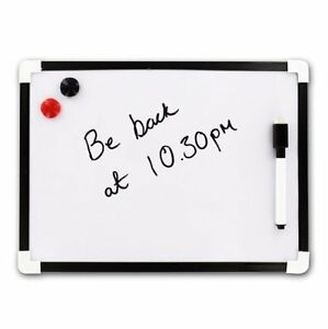 A4-Dry-Wipe-Magnetic-Whiteboard-Mini-Office-Notice-Memo-White-Board-Pen-amp-Eraser