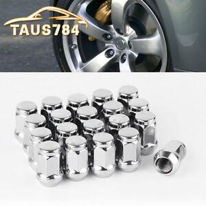 20 Lug Nuts Bulge Acorn 12x1.5 Chrome Wheel Nuts Fits Ford Fusion Focus Escape 800000002710