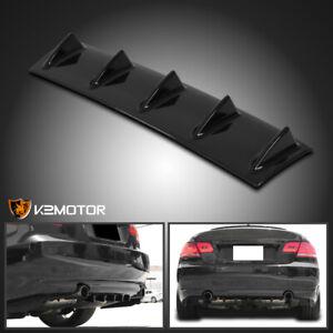 "23"" Rear Bumper Diffuser Shark Fin Spoiler Lip Wing Splitter Black ABS Chassis"