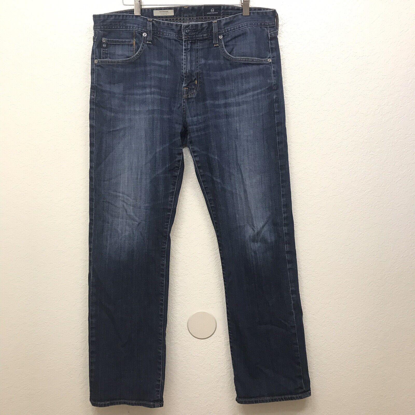 AG Adriano goldschmied Men's 36 x 32 The Predege Straight Leg bluee Jeans Denim