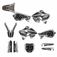 Yz125 Yz250 Graphics Kit For Yamaha 1996 1997 1998 1999 2000 2001 3333-metal