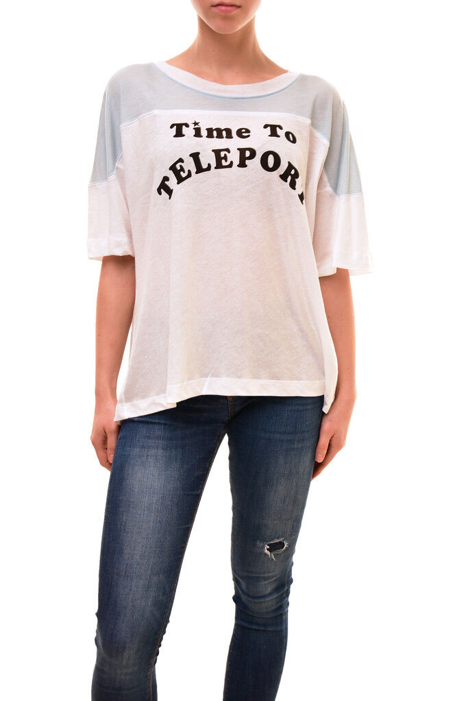 Wildfox Women's Authentic Time To Teleport Shirt White Size S RRP  BCF83