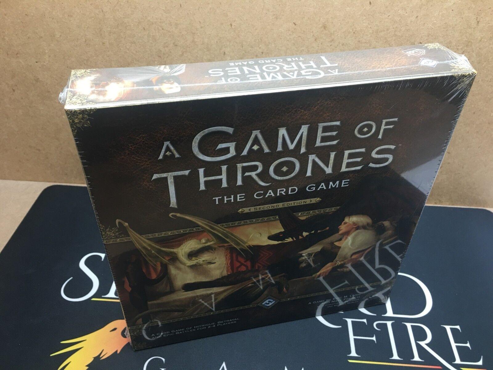 Game of thrones die kartenspiel - fantasy flight games (echte versiegelt.
