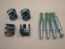 Cam lock & dowel flat pack furniture 4 each x camlocks 18mm cam 34mm dowel screw