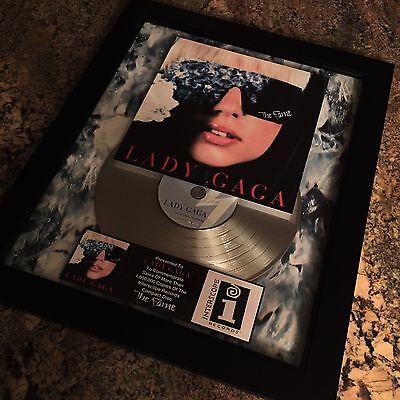 Lady Gaga The Fame Platinum Disc Record Album Music Award MTV Grammy RIAA