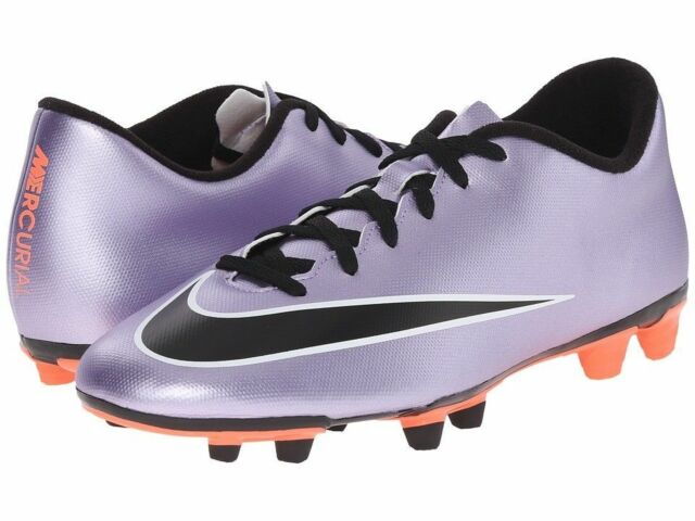 e93a93e2c NEW Nike Mercurial Vortex II FG Mens Purple Black Soccer Cleats 651647-580  sz 10