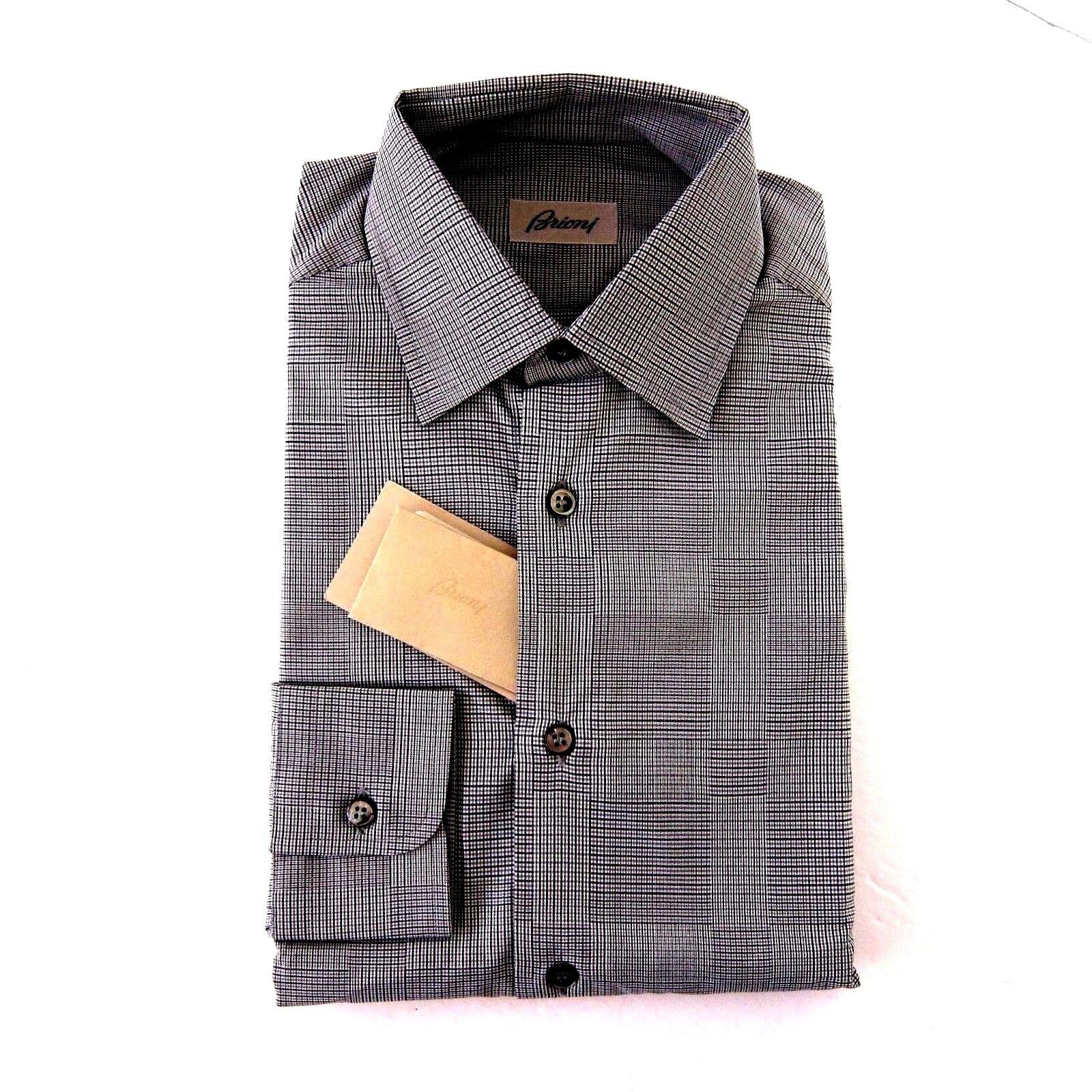J-3421955 Neu Brioni Marineblau Führung Grau Oxford Knopf Hemd Größe XL  | Hochwertige Produkte