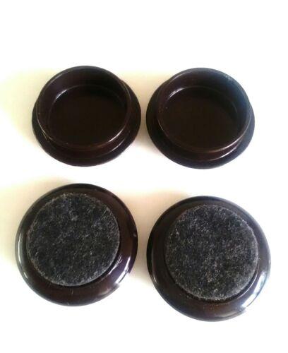 44 mm Castor Cups Meubles Protecteur De Plancher Chaise//Canapé Pieds Cap Tapis//Stratifié