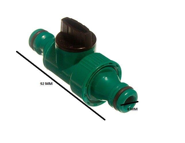 Quick Fix accoppiamento a scatto IN LINE Rubinetto Connettore TUBO DA GIARDINO CONFEZIONE DA 24