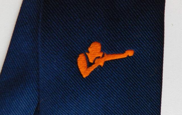 Orange boxer tie logo club tie vintage 1950s 1960s Ernex London sport boxing
