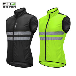 Cycling-Vest-Reflective-Gilet-Waistcoat-Windproof-Sleeveless-Jersey-Bike-Bicycle