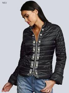 Stepp-Jacke-Hochwertig-Damen-Parker-Tencoat-Groesse-38-schwarz-mit-Perlen-NEU