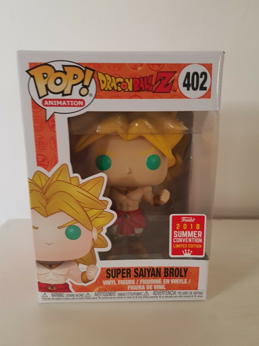 Pop Dragon Dragon Dragon ball - Super saiyan broly Summer Convention 2018 5b0863