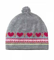 Ruum Girls American Eagle Gray Fair Isle Cashmere Sweater Hat One Size