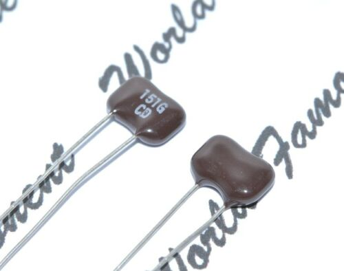 500V 2/% Silvered Mica Capacitor 2pcs 150pF 0.15nF Cornell Dubilier 150P