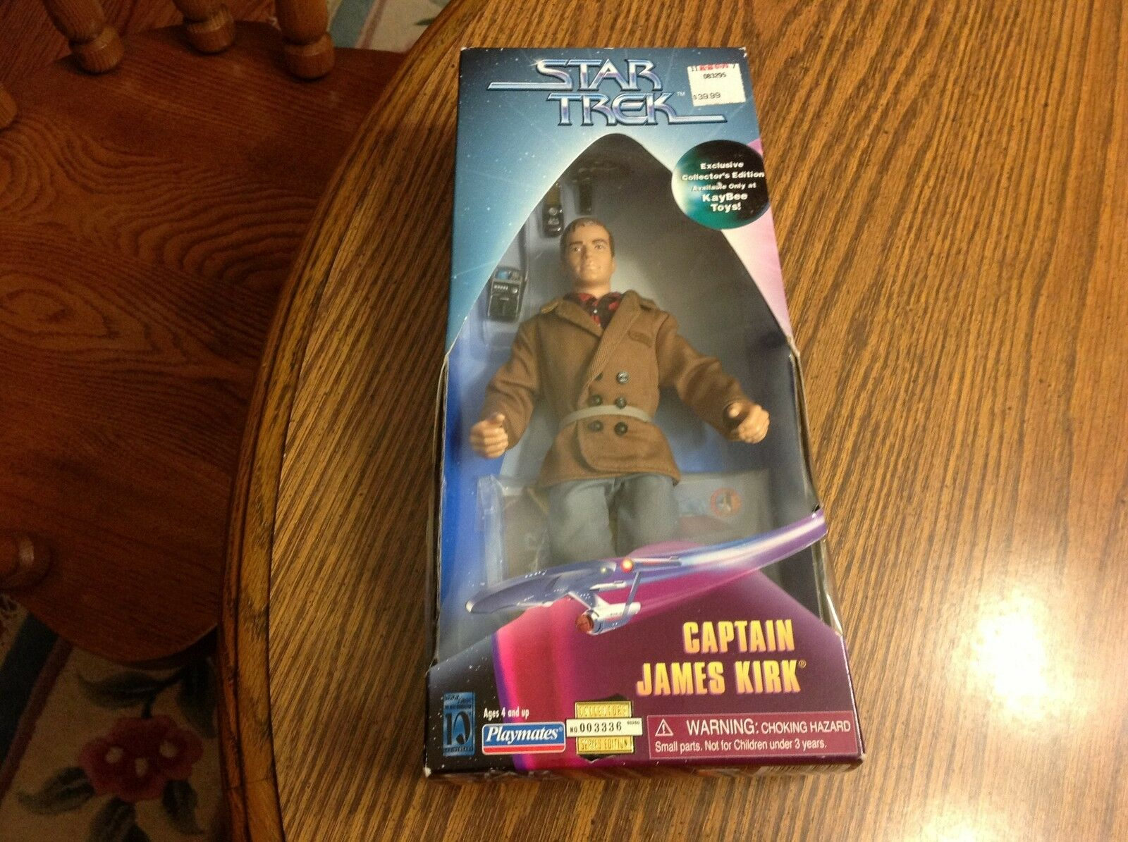 Star Trek RARE Captain Kirk  NIB Playmates 1997 Action Figure with Accessories