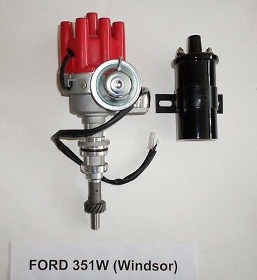 Small Cap 45K ELECTRONIC DISTRIBUTOR UPGRADE KIT RED windsor SBF FORD 351W