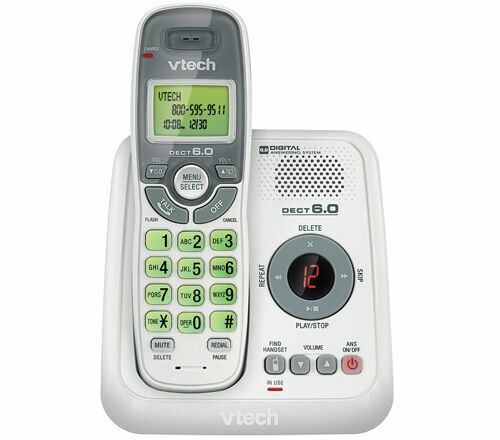 VTech CS6124 DECT 6.0 Cordless Phone with Answering System /& Caller ID Waiting