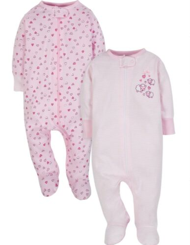 GERBER WONDER NATION BOY/'S 2-PIECE Sleep /'N Plays Zippered Front NWT Puppies
