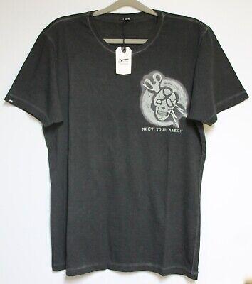 REPLAY T-Shirt Print khaki   Größe:M  Neu mit Etikett NP:59€