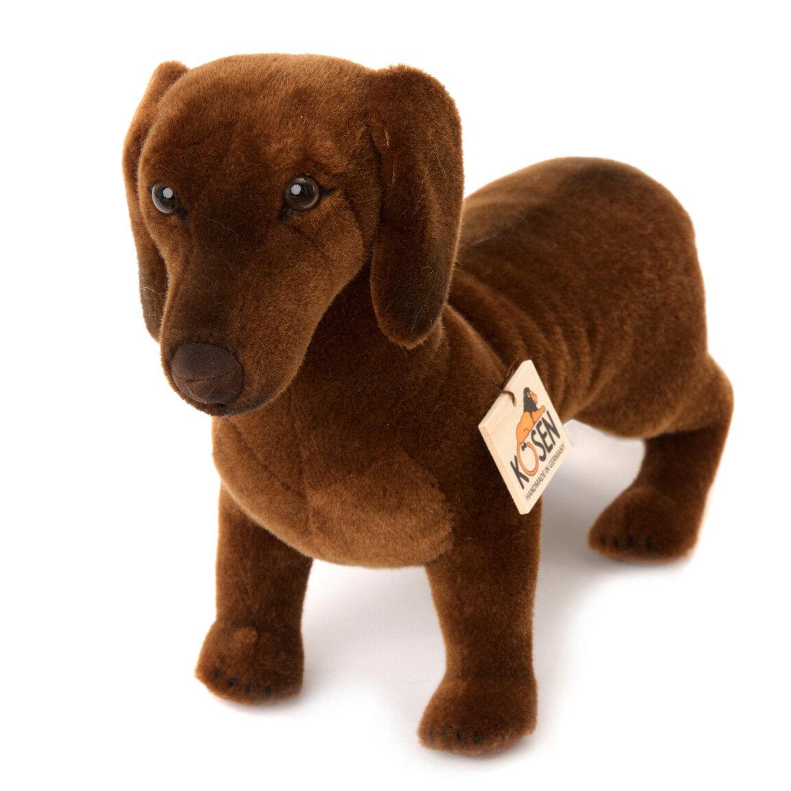 'Waldi' Smooth-Haired Dachshund mohair soft toy puppy dog - Kosen   Kösen - 6860