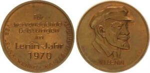 GDR Leuna Bronze Medal For Excellent Services, Lenin Year 1970 59259