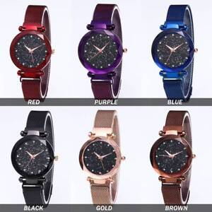 Ladies-Watch-Starry-Sky-Diamond-Dial-Women-Bracelet-Watches-Magnetic-Stainless