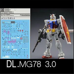 DL-Water-Decal-Stickers-for-Bandai-MG-1-100-RX-78-2-Gundam-ver-3-0-Model-Gunpla