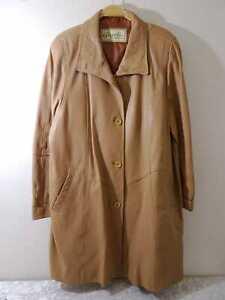 Gazelli creation cuero abrigo señora-tamaño 46
