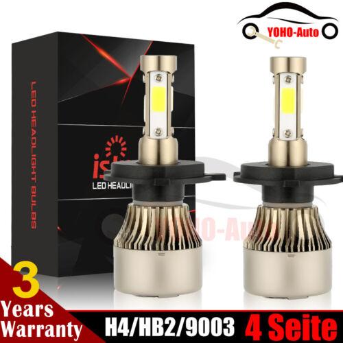 2× 4-Side H4 9003 Scheinwerferbirnen 320W LED 26000LM 6500K Canbus Lampen Xenon
