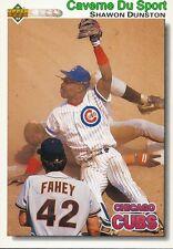 122 SHAWON DUNSTON CHICAGO CUBS  BASEBALL CARD UPPER DECK 1992