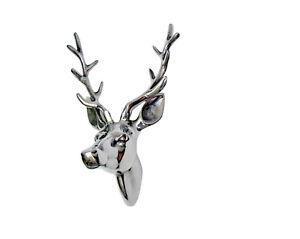 Metal-Wall-Mounted-Stag-Head-Deer-Buck-Antelope-Figurine-sculpture-Christmas