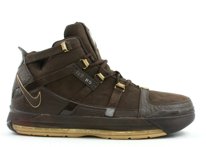 Nike Zoom LeBron III Birthday Edition 312147-221 Brown/Gold Comfortable Seasonal price cuts, discount benefits