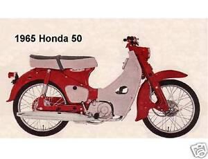 1965 Honda 50 Motorcycle Refrigerator Magnet Ebay